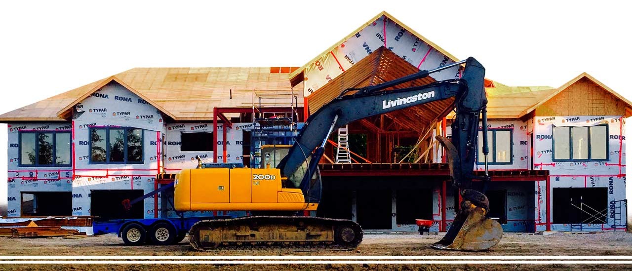 Livingston Excavating at residential construction site
